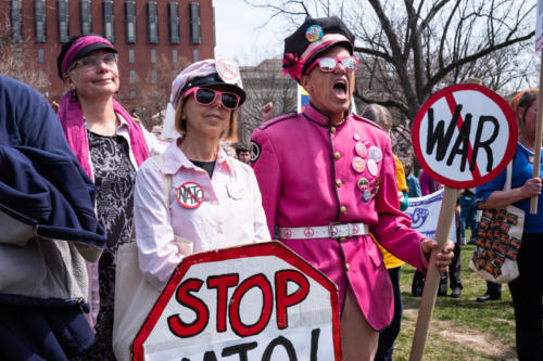 Pink Protestors at White House March 30 2019